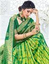 photo of Green Color Art Silk Fabric Function Wear Weaving Work Saree
