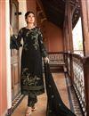 image of Kritika Kamra Satin Georgette Fabric Party Wear Straight Cut Salwar Suit