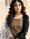 photo of Kritika Kamra Black Color Embroidered Straight Cut Salwar Kameez