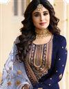 photo of Kritika Kamra Satin Georgette Fabric Straight Cut Salwar Suit