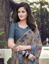 photo of Dark Beige Color Georgette Fabric Fancy Printed Daily Wear Saree