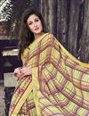 photo of Georgette Fabric Yellow Color Daily Wear Printed Saree