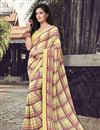 image of Georgette Fabric Yellow Color Daily Wear Printed Saree
