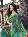 photo of Casual Wear Fancy Printed Saree In Georgette Fabric Sea Green Color
