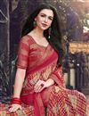 photo of Fancy Georgette Fabric Red Color Printed Daily Wear Saree