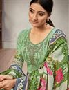 photo of Sea Green Color Embroidery Work Palazzo Salwar Kameez