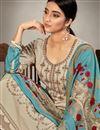 photo of Casual Wear Dark Beige Color Embroidery Work Salwar Suit