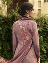 photo of Crepe Fabric Festive Wear Fancy Printed Pink Color Salwar Kameez