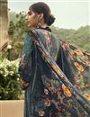 photo of Fancy Festive Wear Crepe Fabric Grey Color Printed Salwar Suit