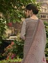 photo of Festive Wear Cream Color Fancy Printed Salwar Kameez In Crepe Fabric