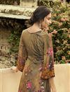 photo of Festive Wear Brown Color Fancy Crepe Fabric Printed Salwar Suit