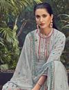 photo of Grey Color Viscose Fabric Daily Wear Printed Palazzo Suit