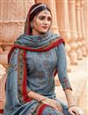 photo of Grey Color Pashmina Fabric Daily Wear Palazzo Suit