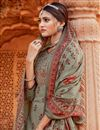 photo of Dark Beige Color Pashmina Fabric Daily Wear Embroidery Work Palazzo Suit