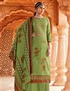 image of Casual Wear Green Color Embroidery Work Palazzo Salwar Kameez
