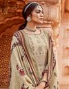 photo of Embroidery Work Beige Color Pashmina Fabric Palazzo Salwar Suit