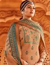 photo of Pashmina Fabric Peach Color Fancy Palazzo Salwar Kameez