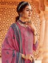 photo of Pink Color Embroidery Work Pashmina Fabric Daily Wear Palazzo Salwar Kameez