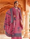 image of Pink Color Embroidery Work Pashmina Fabric Daily Wear Palazzo Salwar Kameez