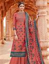 image of Pashmina Fabric Pink Color Casual Wear Palazzo Salwar Kameez