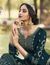 photo of Party Style Classic Georgette Fabric Embroidered Palazzo Suit In Teal Color