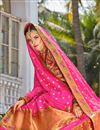 photo of Multi Color Function Wear Weaving Work Banarasi Style Silk Fabric Lehenga Choli