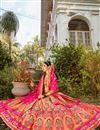 photo of Multi Color Function Wear Weaving Work Lehenga Choli In Banarasi Style Silk Fabric