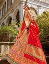 photo of Trendy Banarasi Style Silk Fabric Function Wear Multi Color Weaving Work Lehenga