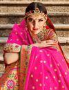 photo of Banarasi Style Silk Fabric Function Wear Multi Color Weaving Work Lehenga Choli