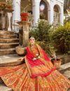 photo of Function Wear Multi Color Trendy Weaving Work Banarasi Style Silk Fabric Lehenga