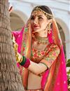photo of Banarasi Style Silk Fabric Function Wear Weaving Work Multi Color Lehenga Choli