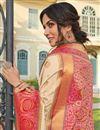 photo of Sangeet Wear Banarasi Style Silk Elegant Beige Color Weaving Work Saree