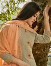 photo of Chanderi Fabric Party Wear Palazzo Salwar Suit