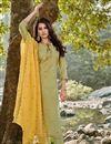 image of Occasion Wear Sea Green Color Embroidered Salwar Kameez