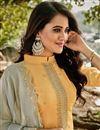 photo of Yellow Color Embroidered Chanderi Fabric Party Wear Salwar Kameez
