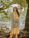 image of Yellow Color Embroidered Chanderi Fabric Party Wear Salwar Kameez