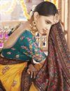 photo of Sangeet Wear Art Silk Fabric Printed Saree In Mustard Color