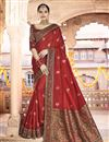 image of Sangeet Wear Red Color Printed Saree