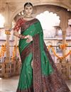 image of Sangeet Wear Green Color Art Silk Fabric Printed Saree