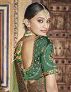 photo of Green Color Art Silk Fabric Festive Wear Saree