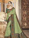 image of Green Color Art Silk Fabric Festive Wear Saree