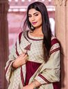 photo of Cotton Fabric Maroon Color Party Wear Simple Long Kurti With Dupatta