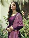 photo of Art Silk Fabric Regular Wear Stone Work Purple Color Palazzo Dress