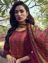 photo of Wine Color Embroidered Salwar Kameez