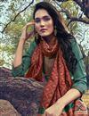 photo of Art Silk Fabric Cyan Color Party Wear Salwar Suit