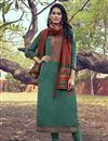 image of Art Silk Fabric Cyan Color Party Wear Salwar Suit