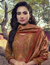 photo of Embroidery Work Rust Color Art Silk Fabric Salwar Suit