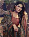 photo of Art Silk Fabric Peach Color Function Wear Salwar Suit