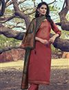 image of Art Silk Fabric Peach Color Function Wear Salwar Suit