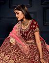 photo of Maroon Color Designer Bridal Lehenga Choli